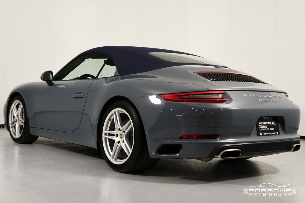Certified Pre-Owned 2017 Porsche 911 Carrera Cabriolet Carrera